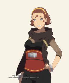 Commission - Atsuko Utada by vicio-kun on DeviantArt Naruto Drawings, Naruto Art, Anime Naruto, Character Portraits, Character Art, Character Design, Boruto, Ninja Outfit, Naruto Oc Characters