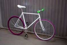White and purple fixie