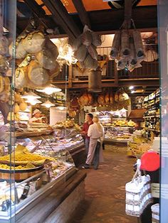 Bologna, Italy meat market
