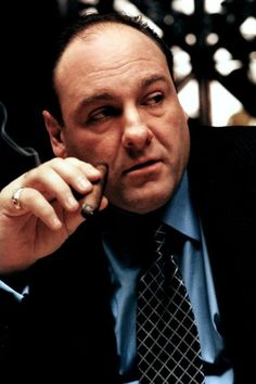 """James Gandolfini as """"Tony Soprano"""" in The Sopranos"""