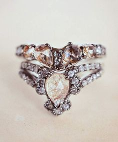 Gorgeous wedding band and engagement ring