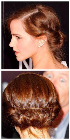 short hair updos emma watson - Google Search
