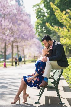 The cutest kiss is on the tip of her nose! #parisphotographer #parisengagement #eiffeltower www.theparisphotographer.com