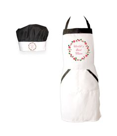 Cook in Style! Giftsmate White Printed Glossy Cotton Apron With Matching Chef Hat, http://www.snapdeal.com/product/giftsmate-white-printed-glossy-cotton/630065735964