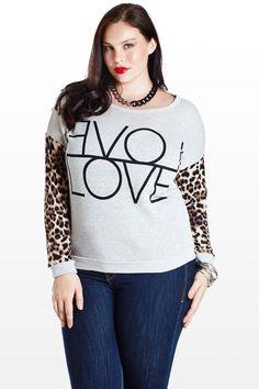 $25-Double the Love Animal Sweatshirt