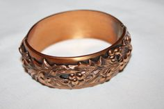 Copper Cuff Clamp Bracelet Whiting Davis 1950s Jewelry by patwatty, $35.00
