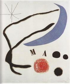 Juan Mirò. Poem, 1968.