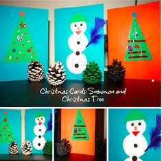 Snowman and Christmas Tree Cards