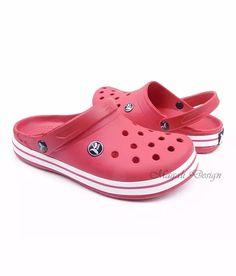 sandália chinelo crocs babuch cros feminino kemo vermelho