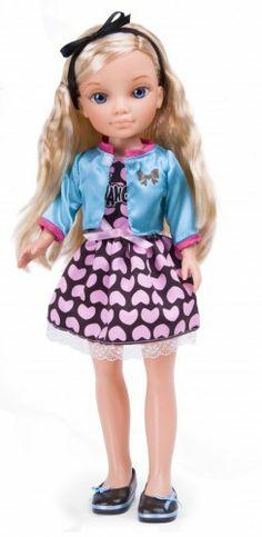 Nancy Vestidos Glamurosos: marrón y rosa. #Nancy #dolls #muñecas #poupeés…