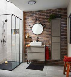 Une salle de bains au style vintage industriel