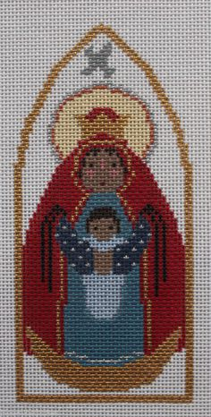 Petei for Painted Pony Designs Black Madonna PT503 HP Needlepoint Canvas