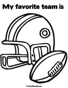 football helmet and ball coloring page perfect for tackle reading httpskathrynstarke