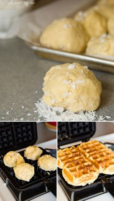 cook these coconut liege waffles cook just the same as regular liege waffles, the waffle iron temperature is the key to making these perfect