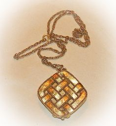 Vintage Perfume Pendant Necklace Aviance by Prince Matchabelli Solid Perfume Necklace 1970s $22.00