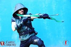 #GreenArrow is coming to get you! Custom leather vest by @castlecorsetry modeled by @smh318 photo by @ronz_photography #dccomics #dcuniverse @stephenamell http://ift.tt/2cAbIl7