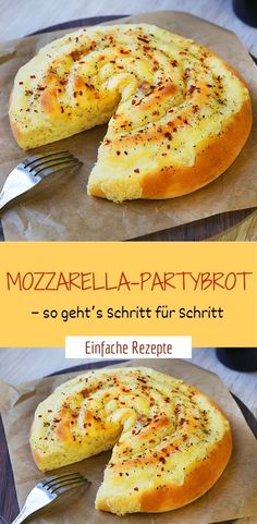 hamburger meat recipes Mozzarella-partybrot zutaten fr 1 brot: 250 g mehl 1 tl trockenhefe 1 tl zucker 3 el geschmolzene butter 125 ml lauwarme milch 1 ei 1 tl salz 2 kugeln mozzarella Mini Pastries, Homemade Pastries, Snacks Pizza, Brunch, Bread Ingredients, Mozzarella, Party Finger Foods, Pastry Recipes, Food Humor