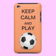 Keep Calm and Play Soccer Form Factor iPod Case from Zazzle.com #soccer #keepcalm #futbol #football #iPod #ipodcase #casemate #Zazzle #casemate #sports #women #salmon
