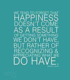 happiness = gratitude = happiness