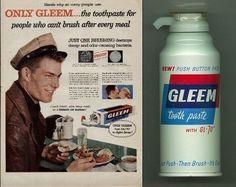 Gleem toothpaste vintage ad