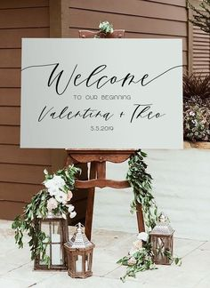 Odette Minimalist Willkommensschild (DIY Print) - Home Accessories Diy Wedding Planning Tips, Wedding Tips, Wedding Events, Wedding Hair, Wedding Ceremony, Wedding Themes, Budget Wedding, Wedding Entrance Table, Wedding Receptions