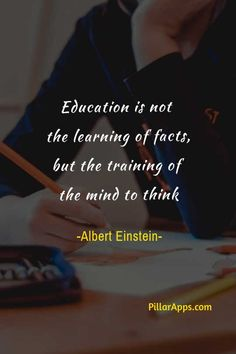 Education is not the learning of facts, but the training of the mind to think_ #educationis #learningoffacts #trainingofthemindtothink #alberteinsteinsayingsabouteducation #thoughtsofalberteinsteininenglishoneducation Albert Einstein Thoughts, Albert Einstein Quotes, Hi Quotes, Need Quotes, Thoughts On Education, Nobel Prize In Physics, Philosophy Of Science, Modern Physics, Theoretical Physics