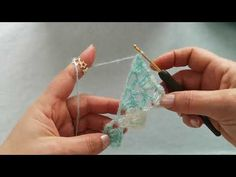 Crochet Shawl, Make It Yourself, Drop Earrings, Detail, Youtube, Jewelry, Crafts, Head Bands, Tricot