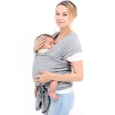 d0b1e89cffc0 Écharpe porte-bébé en coton naturel, Écharpe de portage, Élégant et  Comfortable, Gris  Amazon.fr  Bébés   Puériculture