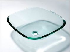 square glass basin, square glass bowk, square glass sink, square vessel sink