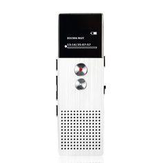 Rastreador de Voz Grabadora de Audio profesional 8 GB de Metal Portátil Negocio Grabadora Digital de Voz Teléfono de Grabación Reproductor MP3