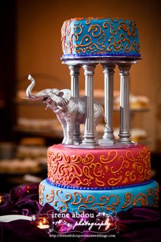 Indian custom wedding cake design idea pictures - The best unique creative wedding, baby, bridal shower and birthday cake designs ideas and photos Indian Cake, Indian Wedding Cakes, Wedding Cake Photos, Punjabi Wedding, Indian Weddings, Wedding Cake Decorations, Wedding Cake Designs, Wedding Ideas, Wedding Wows