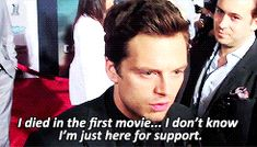 """""""How not to spoil a movie, by Sebastian Stan."""" :D"""