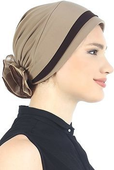 Double Matelassé Chapeau Pour La Perte de Cheveux (Beige/Cacao): Amazon.fr: Vêtements et accessoires