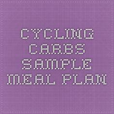 Cycling Carbs Sample Meal Plan