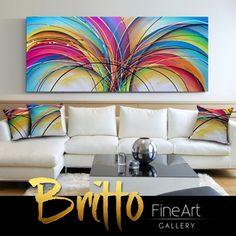 Quadros Abstratos Decorativos 170cm x 70cm QB235