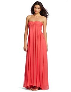 HALSTON HERITAGE Womens Strapless Gown, Tulip, 10.  check discount today! click picture on top