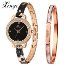 be3b7974092 Xinge Luxury Watch Women Brand Fashion Gold Crystal Bracelet Quartz  Wristwatches Women Brands