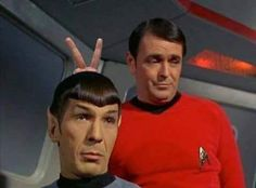 Scott giving Spock the old Andorian antenna treatment. Scotty Star Trek, Star Trek Spock, Star Trek Tv, Star Trek Series, Star Trek Meme, Star Wars Humor, Star Trek Images, Star Trek Characters, Funny Photoshop