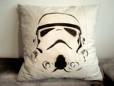 Storm Trooper Star Wars Pillow by Gorgeoustuff on Etsy, $39.00 (Darth Vader available, too)