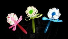 Baby Shower Favor Decoration. Diaper Cakes spoon.