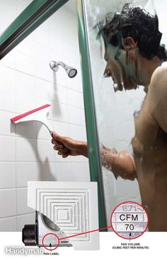 Prevent Bathroom Mold - No matter where you live, the high moisture level in your bathroom can cause mold and mildew. Eliminating bathroom dampness is the key to keeping mold from growing. To do that, follow these steps: First, after a bath or a shower, squeegee water off the shower walls. That eliminates at least three-fourths of the moisture that supports mold and mildew growth. Second, run your bath fans during your bath or shower and for a half-hour after to flush out moisture. Or add a…
