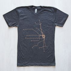 Chicago Unisex T-Shirt Dk Gray, $28, now featured on Fab.
