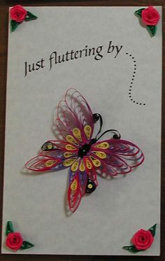 quilled butterfly card, quilling