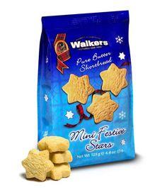 Walkers Shortbread : Mini Snowflake Stars Shortbread
