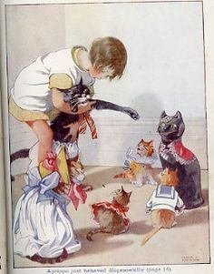 Don't you just love little girls and kitty's!  Honor C. Appleton Me and my Pussies