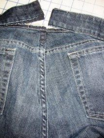 Tutorial: Taking in the waist on a pair of jeans · Sewing | CraftGossip.com