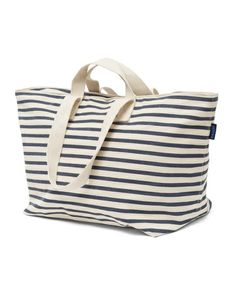 The Baggu Weekend (Stripe Sailor) - A big heavy-weight canvas bag from BAGGU. Perfect for weekend travel or everyday.