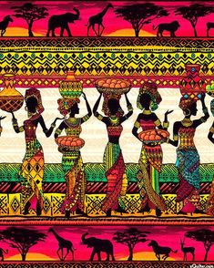 Best african art painting home IdeasYou can find African art and more on our website.Best african art painting home Ideas African Artwork, African Art Paintings, Arte Tribal, Tribal Art, African Quilts, African Fabric, African Sunset, African Love, Afrique Art