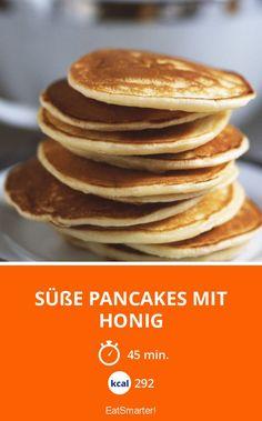 Süße Pancakes mit Honig - smarter - Kalorien: 292 Kcal - Zeit: 45 Min. | eatsmarter.de