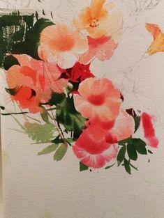 2017수업시연중에~~ : 네이버 블로그 Watercolor And Ink, Watercolor Flowers, Watercolor Paintings, Watercolour Tutorials, Shepherd Puppies, Learn To Paint, Botanical Art, Still Life, Colours